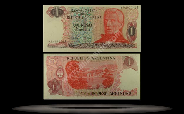 Argentina Banknote, 1 Peso Argentino, ND (1983-84), P#311a