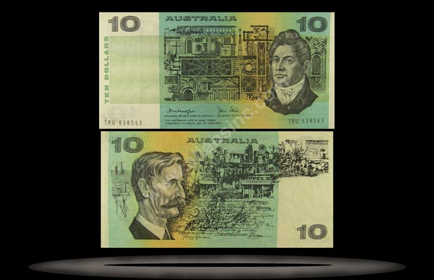 Australia Banknote, 10 Dollars, ND (1983), P#45d