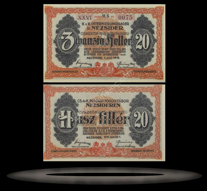 Grodig Prisoner of War Camp, Austria Banknote, 50 Heller, ND (1915), P#1394