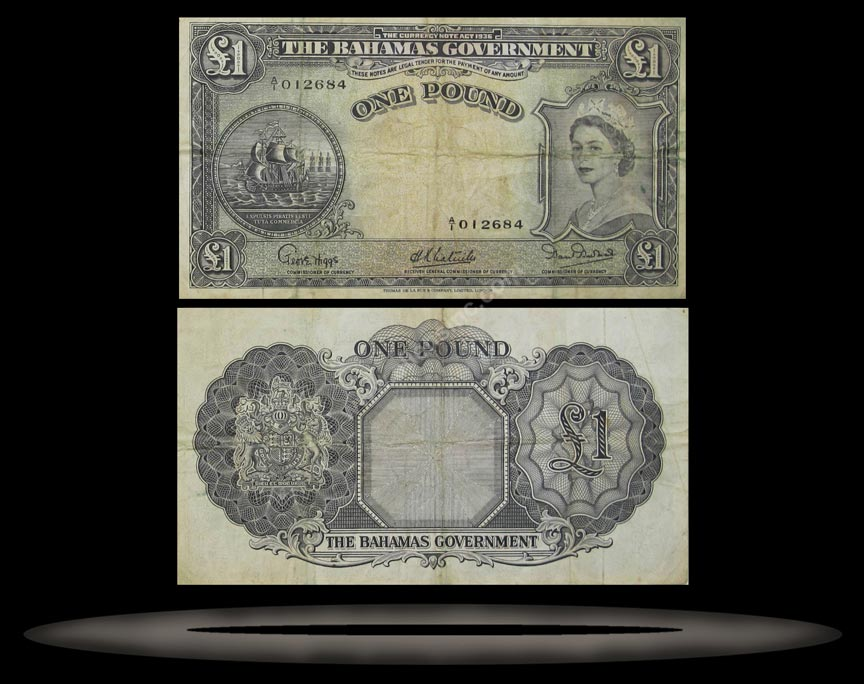 Bahamas Banknote, 1 Pound, ND (1953), P#15a MAIN