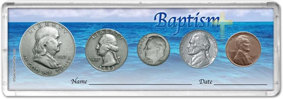 1953 Baptism Coin Gift Set LARGE