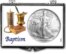 1989 Baptism American Silver Eagle Gift Display THUMBNAIL