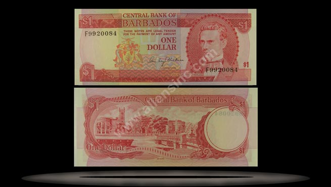 Barbados Banknote, 1 Dollar, ND (1973), P#29a