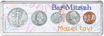 1938 Bar Mitzvah Coin Gift Set THUMBNAIL