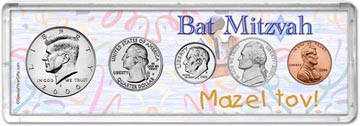 2000 Bat Mitzvah Coin Gift Set THUMBNAIL