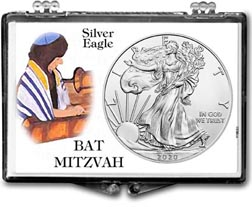 Bat Mitzvah American Silver Eagle Gift Display THUMBNAIL