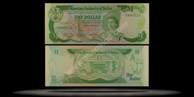 Belize Banknote, 1 Dollar, 1.6.1980, P#38a MAIN