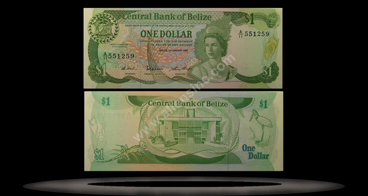 Belize Banknote, 1 Dollar, 1.11.1983, P#46a