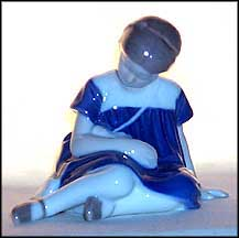 Girl With Doll, Bing & Grondahl Figurine #1526