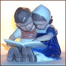 Reading Children, Bing & Grondahl Figurine #1567