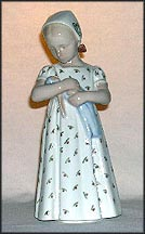 Mary With Doll, White Dress, Bing & Grondahl Figurine #1721w