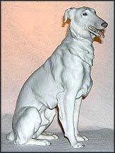 Borzoi, White, Sitting, Bing & Grondahl Figurine #1814 MAIN