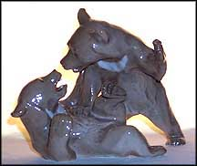 Bears, Bing & Grondahl Figurine #1825 MAIN