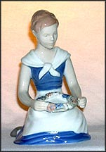 Girl with Garland, Bing & Grondahl Figurine #2345_MAIN