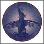Christmas Eve At The Statue Of Liberty Collector Plate by Christopher Magadini