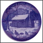 Christmas Eve At Lincoln's Cabin Collector Plate by Christopher Magadini