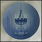 Interior Of A Gothic Church Collector Plate by Dahl Jensen
