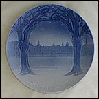 View Of Copenhagen From Frederiksberg Hill Collector Plate by Cathinka Olsen