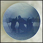 Angels And Shepherds Collector Plate by Harald Moltke