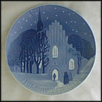 Going To Church On Christmas Eve Collector Plate by Einar Hansen MAIN