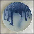 Bringing Home The Yule Tree Collector Plate by Th. Larsen