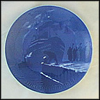 Arrival Of The Christmas Boat Collector Plate by Achton Friis