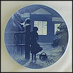Outside The Lighted Window Collector Plate by Achton Friis