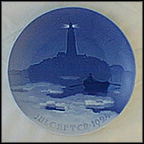 Lighthouse In Danish Waters Collector Plate by Achton Friis MAIN