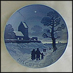 Churchgoers On Christmas Day Collector Plate by Achton Friis