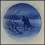 Skating Couple Collector Plate by Achton Friis