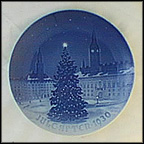 Yule Tree In Town Hall Square Of Copenhagen Collector Plate by Hans Flugenring