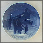 Arrival Of The Christmas Train Collector Plate by Achton Friis