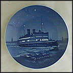 The Korsor-Nyborg Ferry Collector Plate by Hans Flugenring