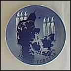 Lighting The Candles Collector Plate by Immanuel Tjerne
