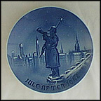 Watchman, Sculpture Of Town Hall, Copenhagen Collector Plate by Margrethe Hyldahl