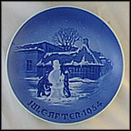 Birthplace Of Hans Christian Andersen, With Snowman Collector Plate by Borge Pramvig