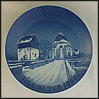 Danish Village Church Collector Plate by Kjeld Bo Bonfils