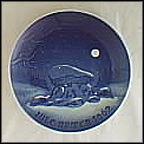 Winter Night Collector Plate by Kjeld Bo Bonfils