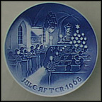 Christmas In Church Collector Plate by Henry Thelander