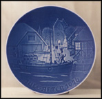 Christmas Welcome Collector Plate by Henry Thelander
