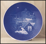 Copenhagen Christmas Collector Plate by Henry Thelander