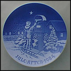 The Christmas Letter Collector Plate by Edvard Jensen