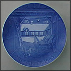 Christmas Eve At The Farmhouse Collector Plate by Edvard Jensen