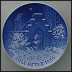 Silent Night, Holy Night Collector Plate by Edvard Jensen