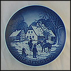 A Day At Deer Park Collector Plate by Edvard Jensen
