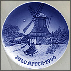 Winter At The Old Mill Collector Plate by Jørgen Nielsen