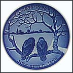 Crows Enjoy Christmas Collector Plate by Dahl Jensen