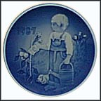 The Little Gardeners Collector Plate by Carole Roller