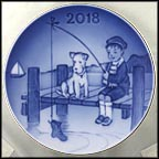 The Little Fisherman Collector Plate by Sven Vestergaard MAIN