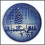 Christmas At Rockefeller Center Collector Plate by Jack Woodson MAIN
